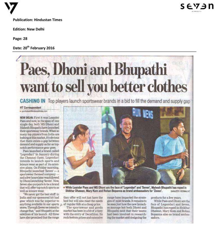 Pace, Dhoni and Bhupathi want to sell you better clothes